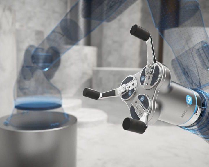 OnRobot wprowadza nowy trójpalczasty chwytak elektryczny z dużym posuwem do obsługi obiektów cylindrycznych